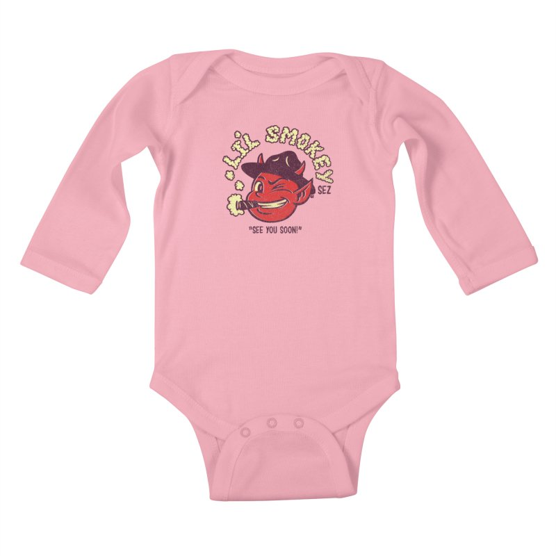 Li'L Smokey Kids Baby Longsleeve Bodysuit by Gimetzco's Damaged Goods
