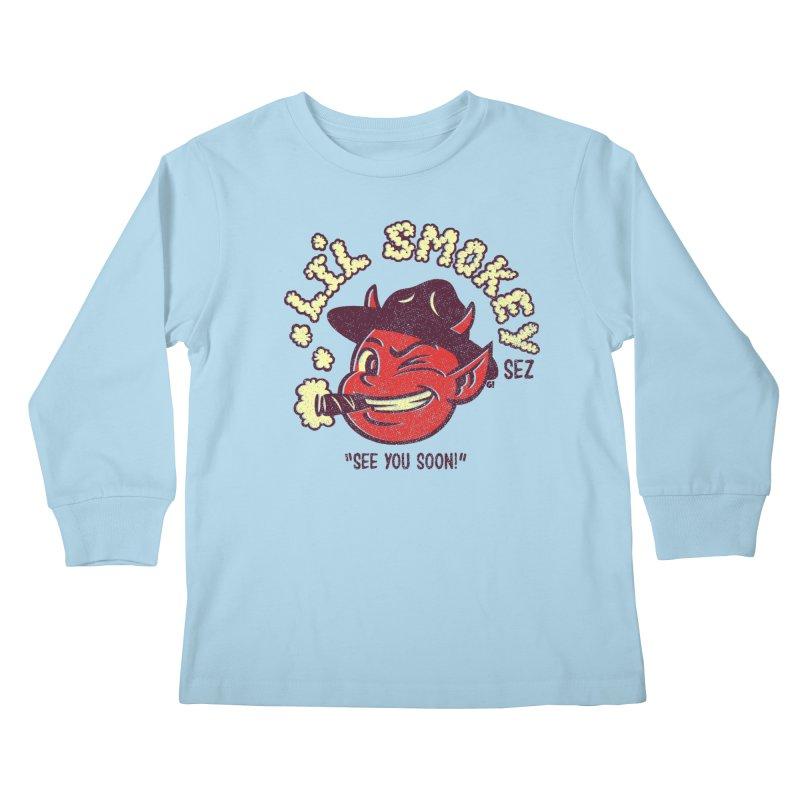 Li'L Smokey Kids Longsleeve T-Shirt by Gimetzco's Damaged Goods