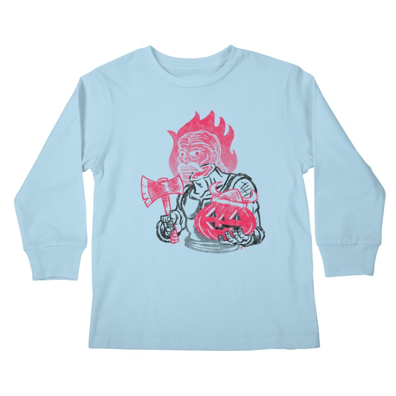 Headless Norseman Kids Longsleeve T-Shirt by Gimetzco's Artist Shop