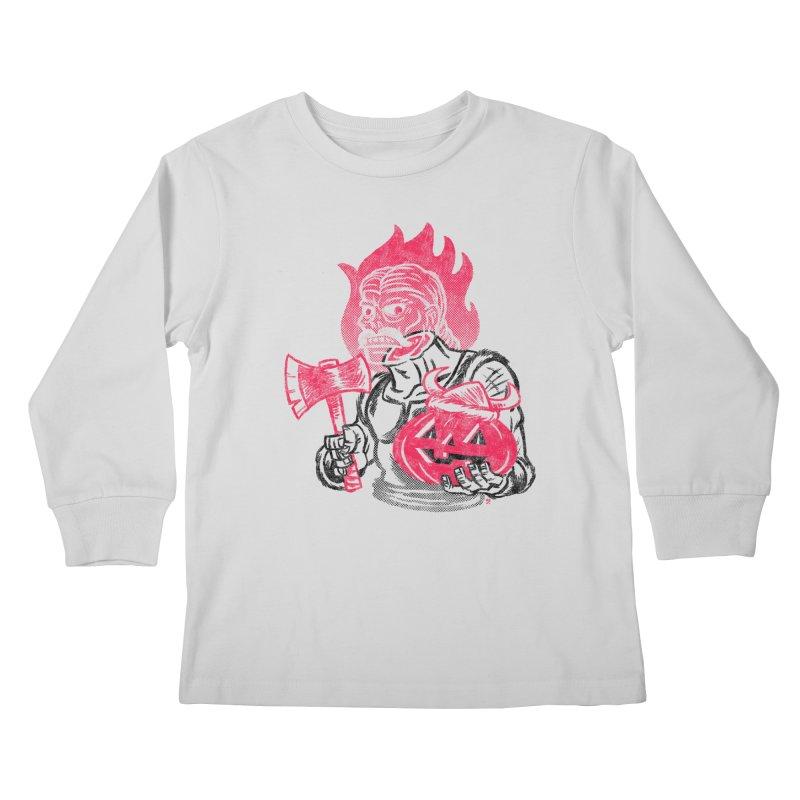 Headless Norseman Kids Longsleeve T-Shirt by Gimetzco's Artist Shop