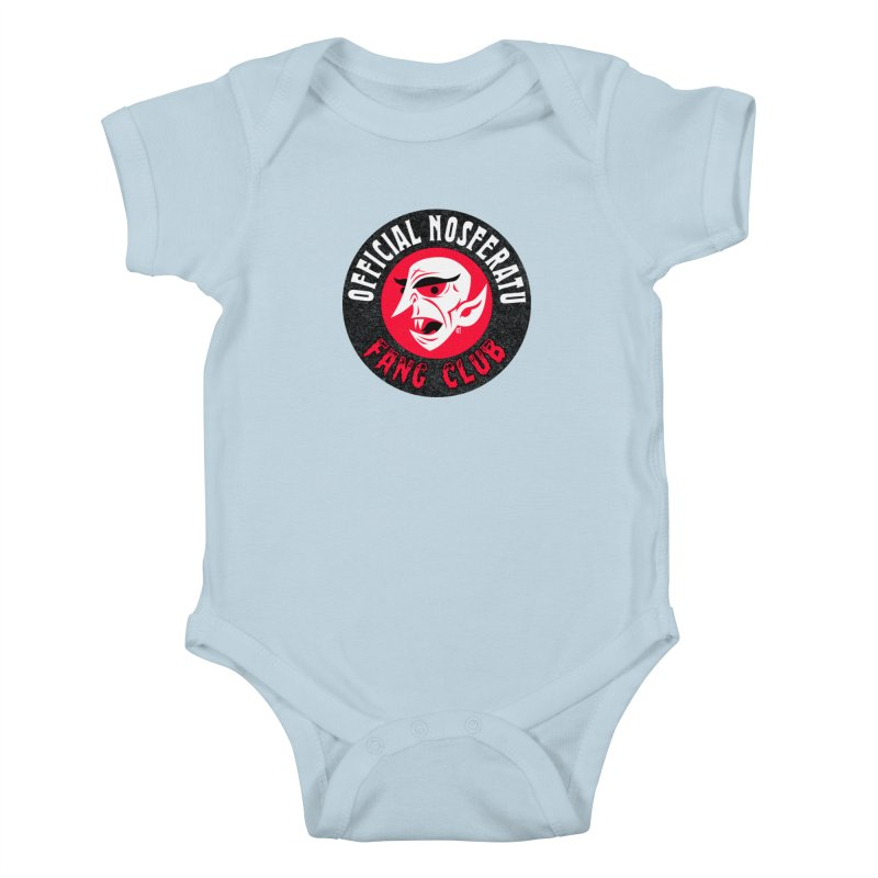 Nosferatu Fang Club Kids Baby Bodysuit by Gimetzco's Damaged Goods