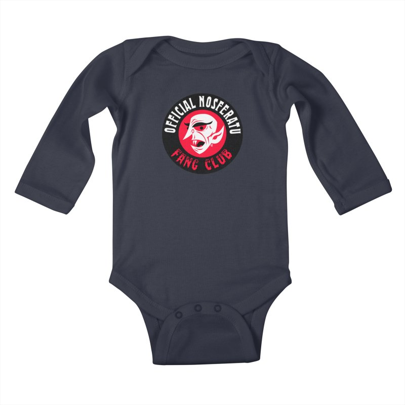 Nosferatu Fang Club Kids Baby Longsleeve Bodysuit by Gimetzco's Damaged Goods