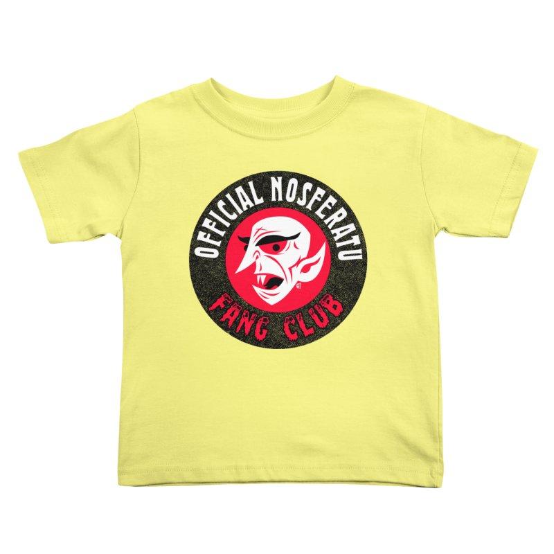 Nosferatu Fang Club Kids Toddler T-Shirt by Gimetzco's Damaged Goods