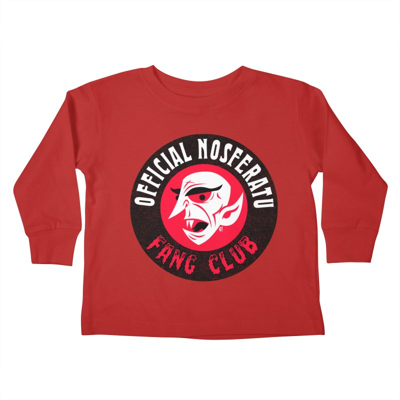 Nosferatu Fang Club Kids Toddler Longsleeve T-Shirt by Gimetzco's Artist Shop
