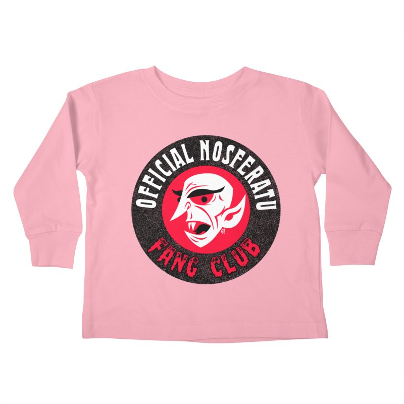 Nosferatu Fang Club Kids Toddler Longsleeve T-Shirt by Gimetzco's Damaged Goods