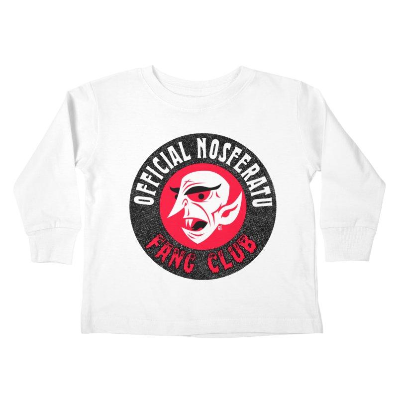 Nosferatu Fang Club Kids Toddler Longsleeve T-Shirt by Gimetzco's Damaged Goods