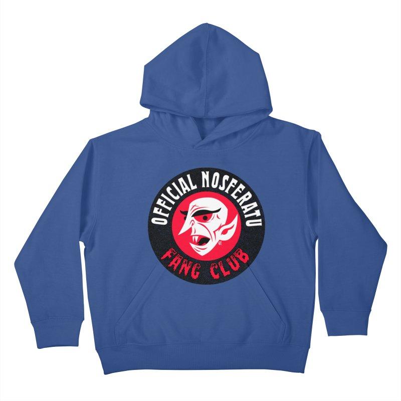 Nosferatu Fang Club Kids Pullover Hoody by Gimetzco's Damaged Goods
