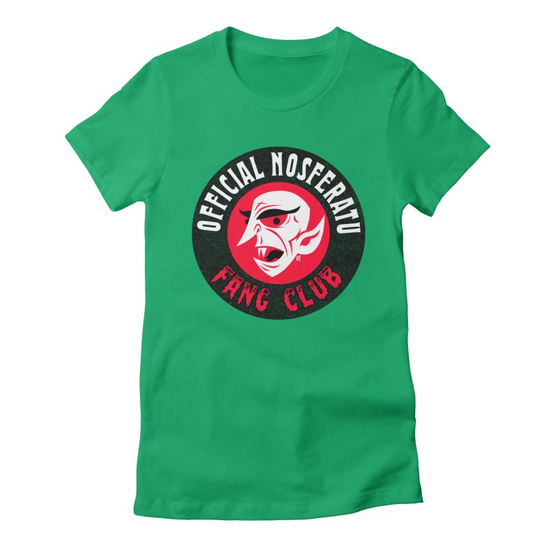 Nosferatu Fang Club Women's Fitted T-Shirt by Gimetzco's Artist Shop