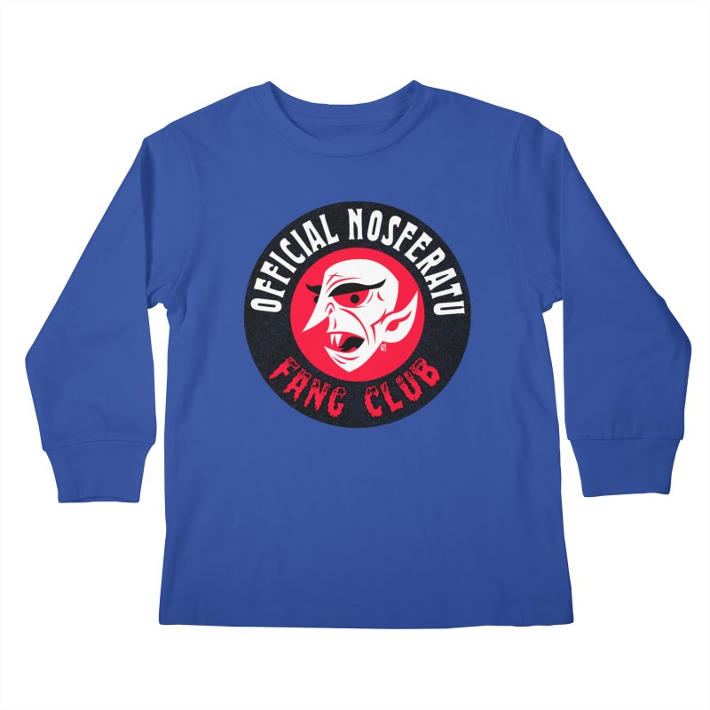 Nosferatu Fang Club Kids Longsleeve T-Shirt by Gimetzco's Damaged Goods