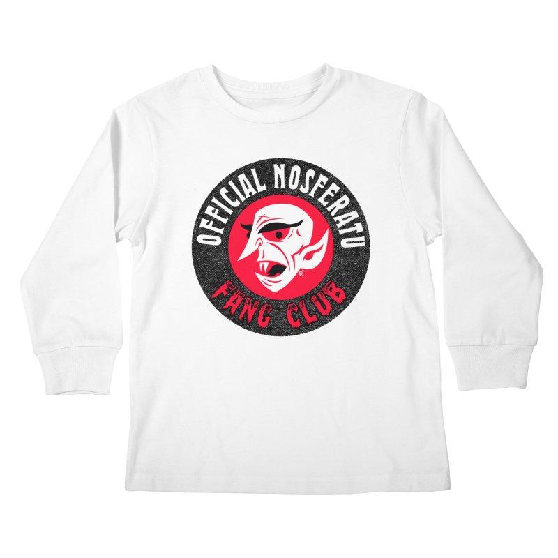 Nosferatu Fang Club Kids Longsleeve T-Shirt by Gimetzco's Damaged Goods