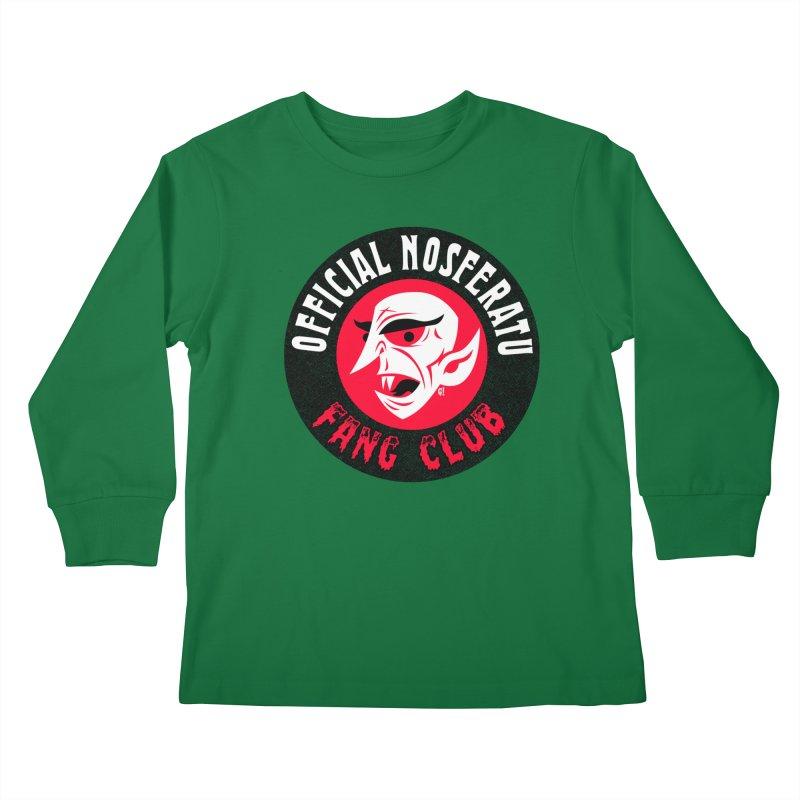 Nosferatu Fang Club Kids Longsleeve T-Shirt by Gimetzco's Artist Shop