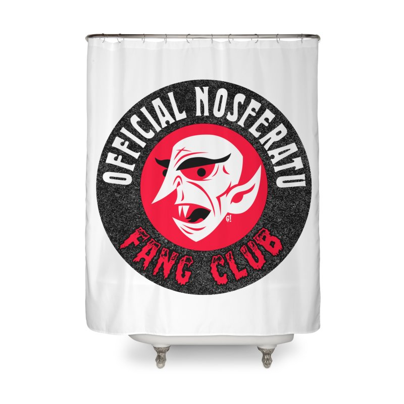 Nosferatu Fang Club Home Shower Curtain by Gimetzco's Damaged Goods