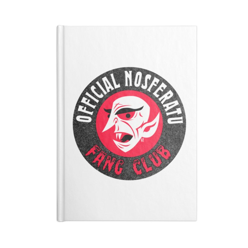 Nosferatu Fang Club Accessories Notebook by Gimetzco's Artist Shop