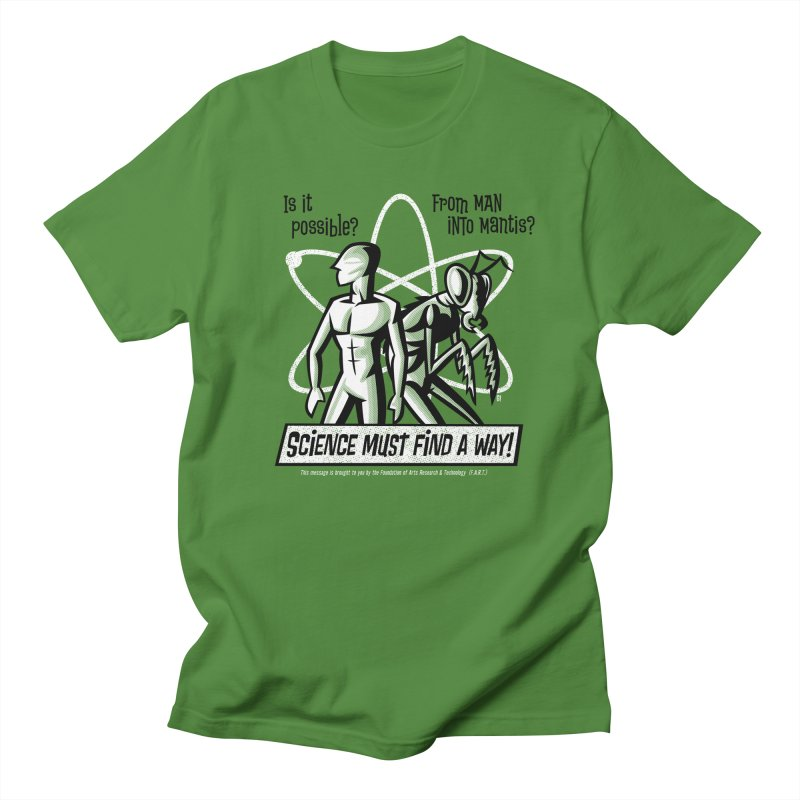 Man into Mantis? Men's T-Shirt by Gimetzco's Damaged Goods