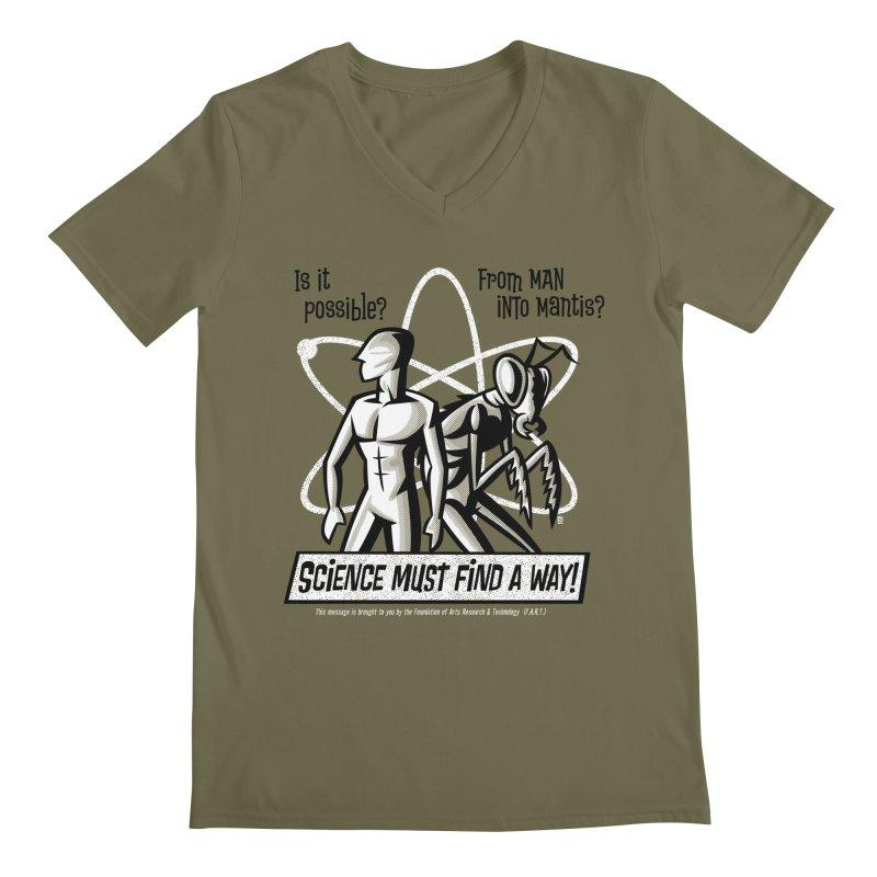 Man into Mantis? Men's V-Neck by Gimetzco's Artist Shop