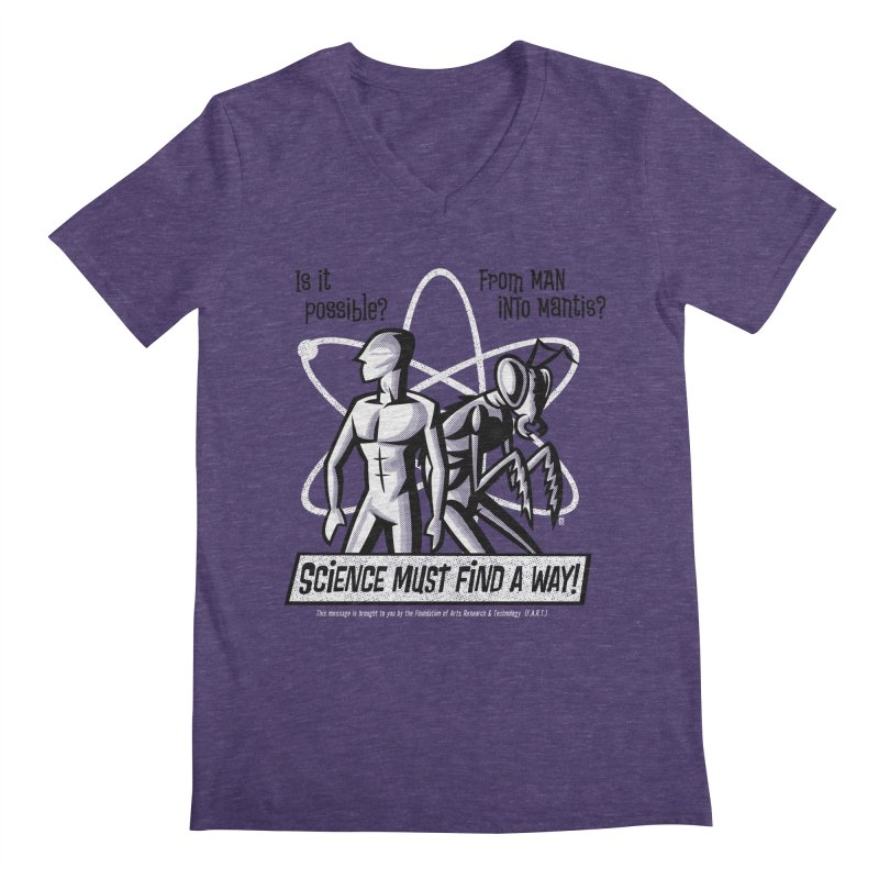 Man into Mantis? Men's V-Neck by Gimetzco's Artist Shop