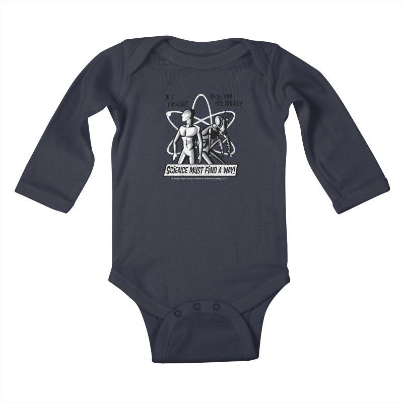 Man into Mantis? Kids Baby Longsleeve Bodysuit by Gimetzco's Damaged Goods