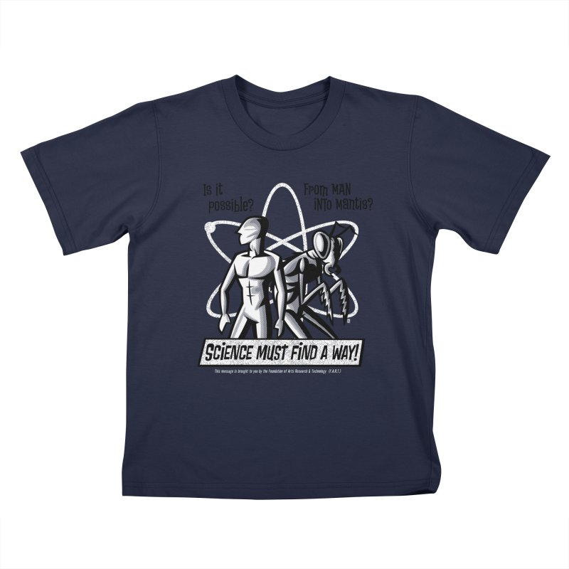 Man into Mantis? Kids T-Shirt by Gimetzco's Damaged Goods