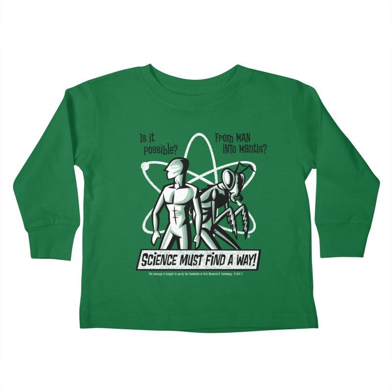 Man into Mantis? Kids Toddler Longsleeve T-Shirt by Gimetzco's Damaged Goods