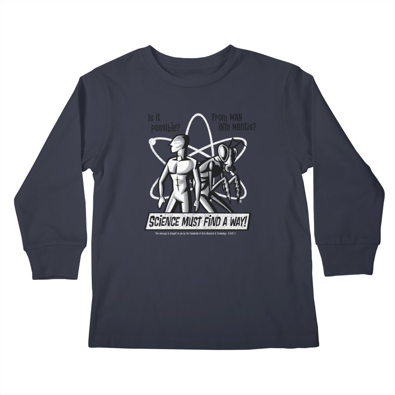 Man into Mantis? Kids Longsleeve T-Shirt by Gimetzco's Damaged Goods