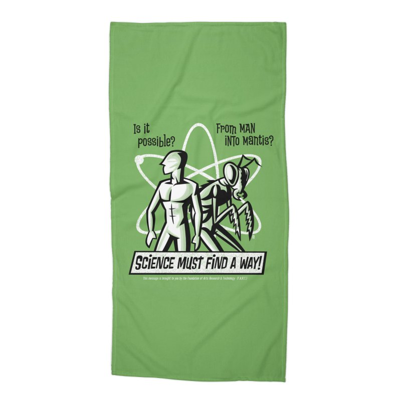 Man into Mantis? Accessories Beach Towel by Gimetzco's Damaged Goods