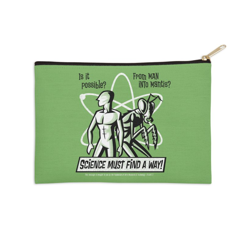 Man into Mantis? Accessories Zip Pouch by Gimetzco's Damaged Goods
