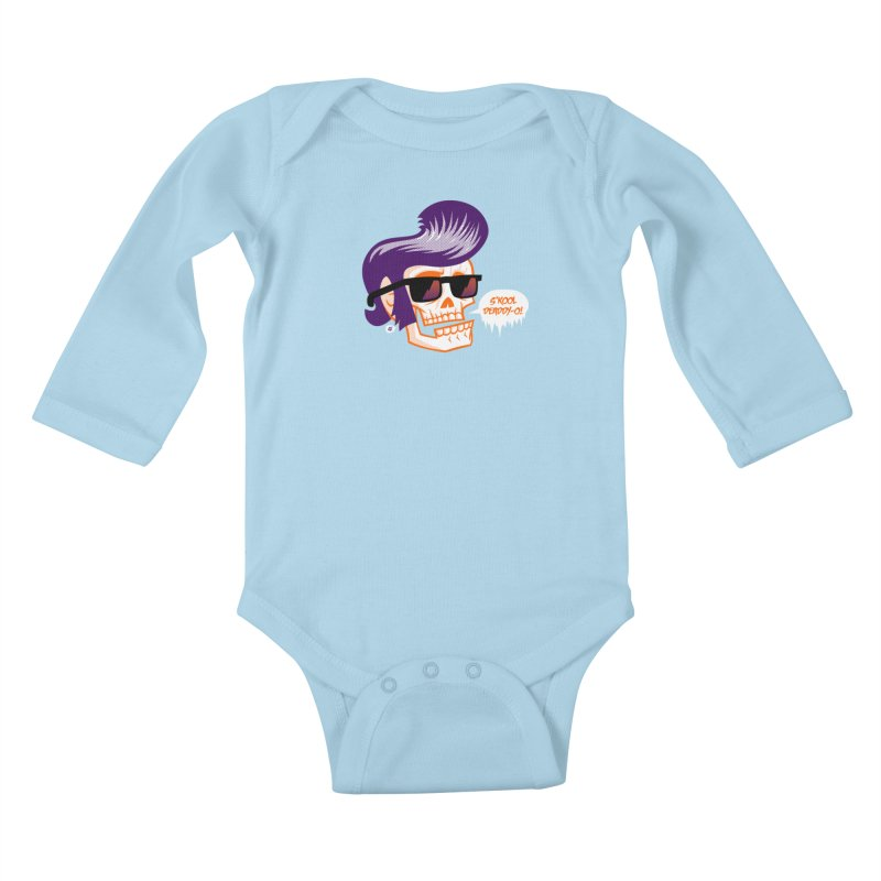 S'kool Deaddy-o! Kids Baby Longsleeve Bodysuit by Gimetzco's Artist Shop