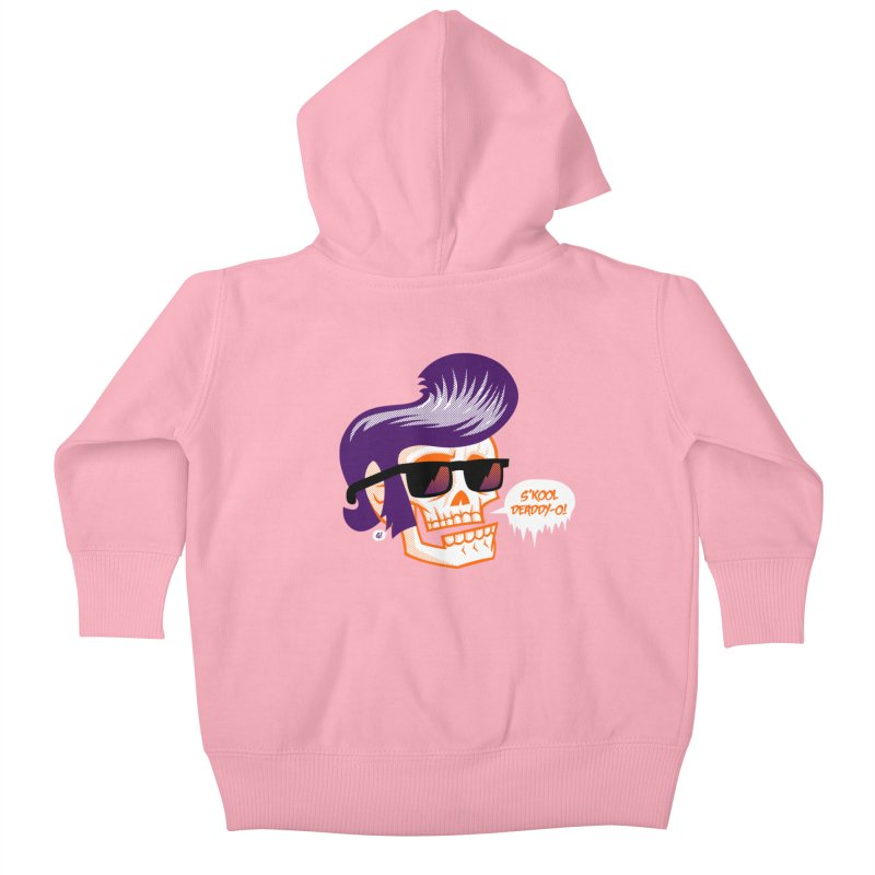 S'kool Deaddy-o! Kids Baby Zip-Up Hoody by Gimetzco's Artist Shop