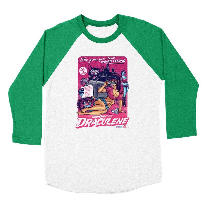 Draculene Women's Baseball Triblend Longsleeve T-Shirt by Gimetzco's Damaged Goods