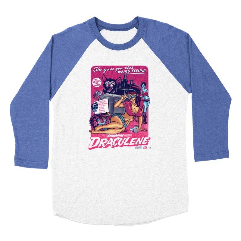 Draculene Men's Baseball Triblend Longsleeve T-Shirt by Gimetzco's Damaged Goods