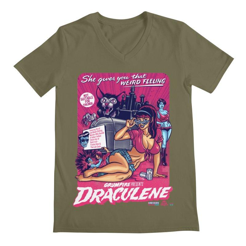 Draculene Men's Regular V-Neck by Gimetzco's Damaged Goods