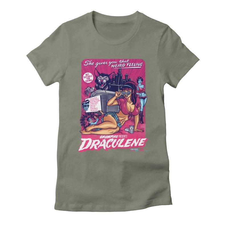 Draculene Women's Fitted T-Shirt by Gimetzco's Damaged Goods
