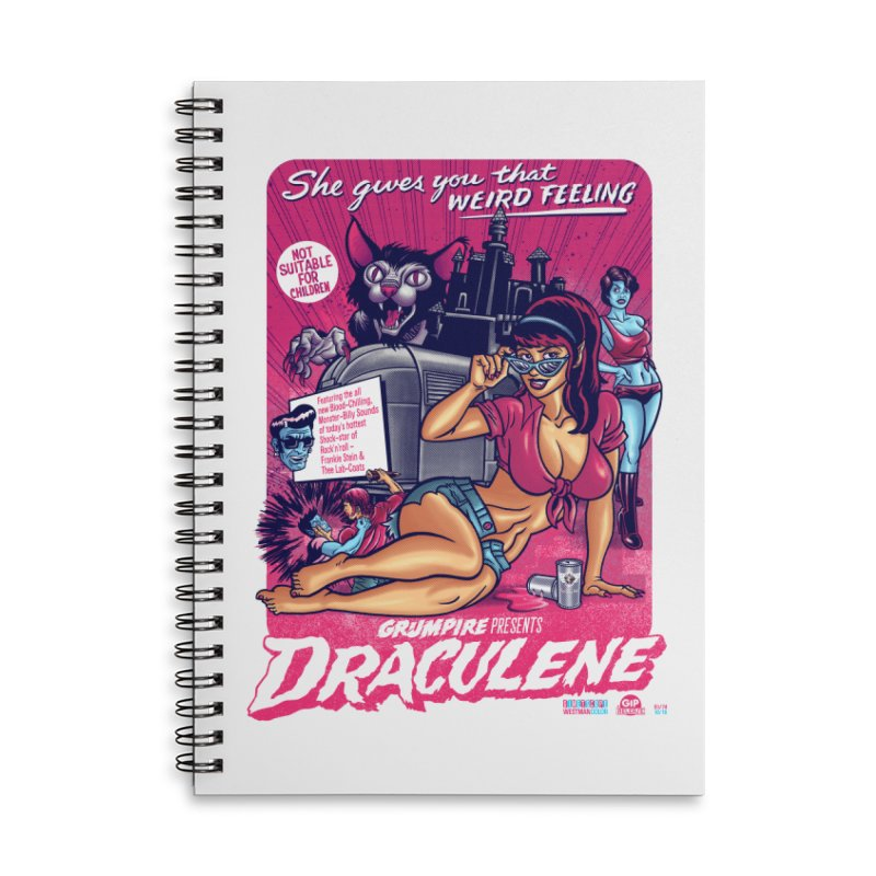 Draculene Accessories Lined Spiral Notebook by Gimetzco's Damaged Goods