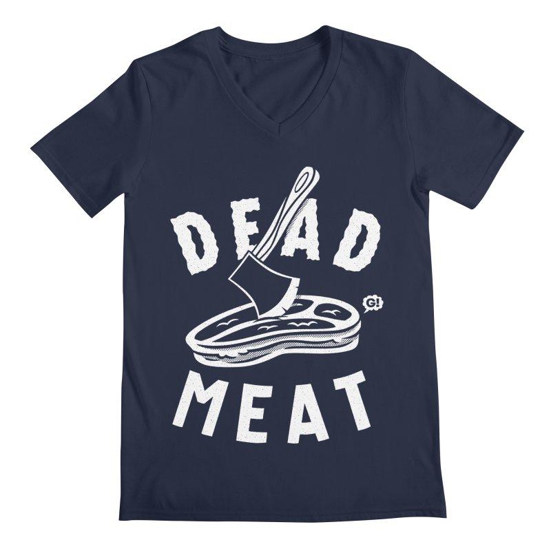 DEAD MEAT Men's V-Neck by Gimetzco's Artist Shop
