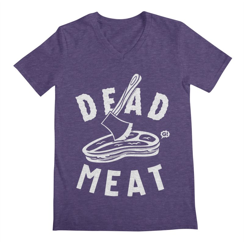 DEAD MEAT Men's V-Neck by Gimetzco's Artist Shop