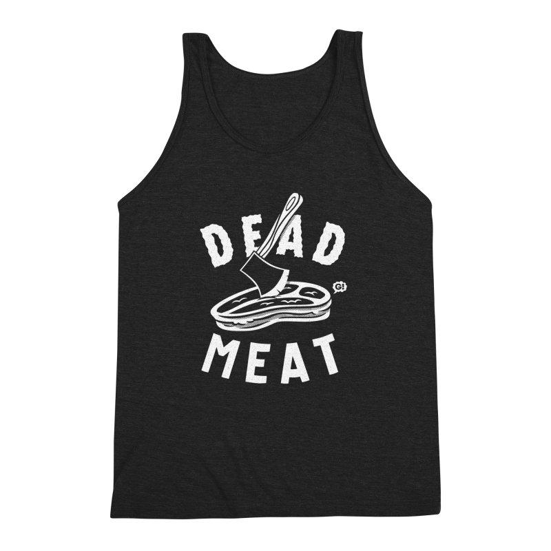 DEAD MEAT Men's Triblend Tank by Gimetzco's Artist Shop