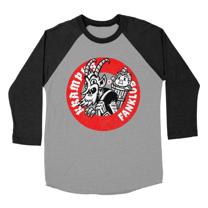 KRAMPUS FANKLUB Women's Baseball Triblend T-Shirt by Gimetzco's Artist Shop