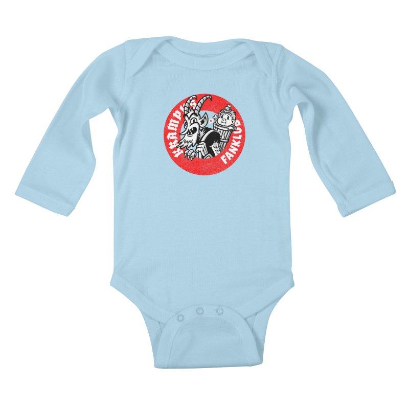 KRAMPUS FANKLUB Kids Baby Longsleeve Bodysuit by Gimetzco's Damaged Goods