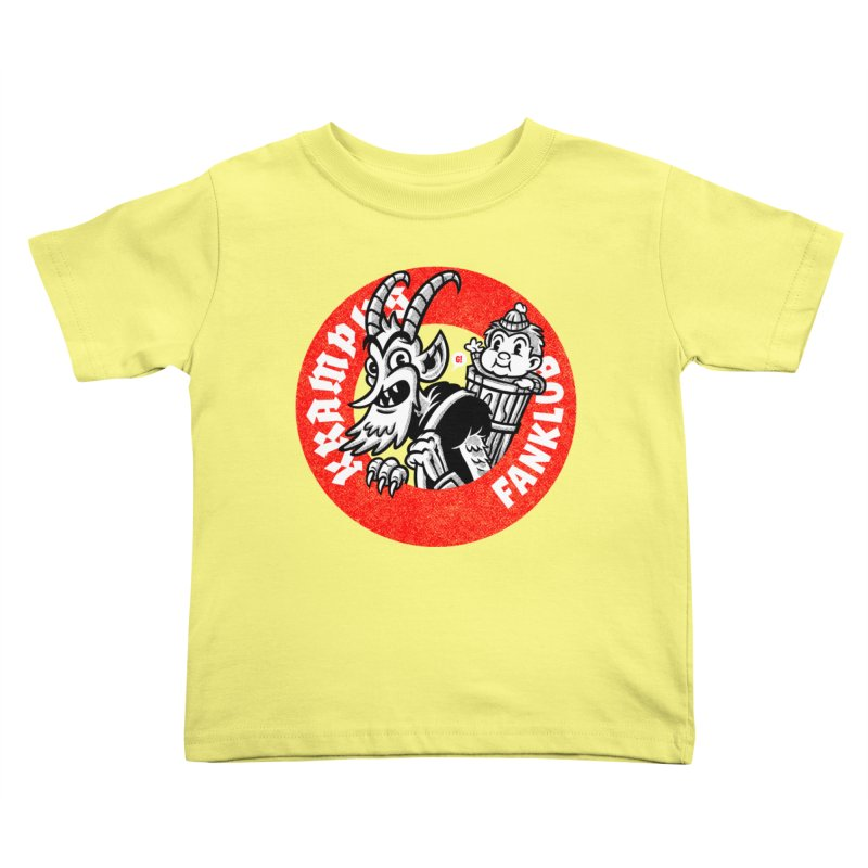 KRAMPUS FANKLUB Kids Toddler T-Shirt by Gimetzco's Damaged Goods