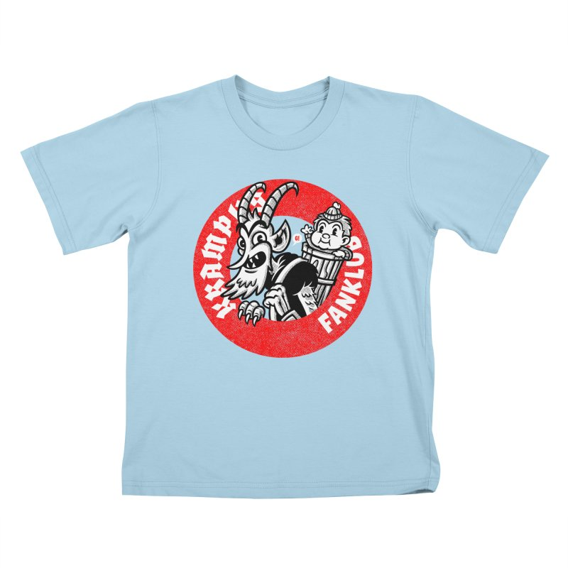 KRAMPUS FANKLUB Kids T-Shirt by Gimetzco's Damaged Goods