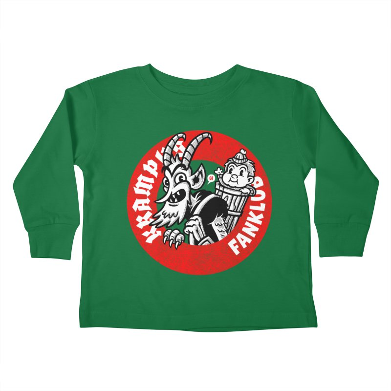KRAMPUS FANKLUB Kids Toddler Longsleeve T-Shirt by Gimetzco's Damaged Goods