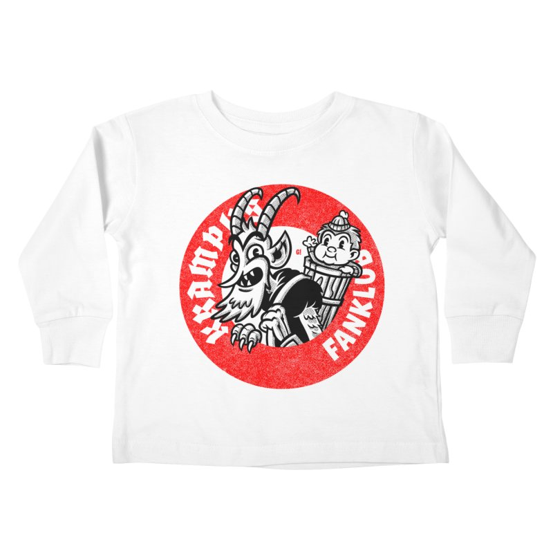 KRAMPUS FANKLUB Kids Toddler Longsleeve T-Shirt by Gimetzco's Damaged Goods