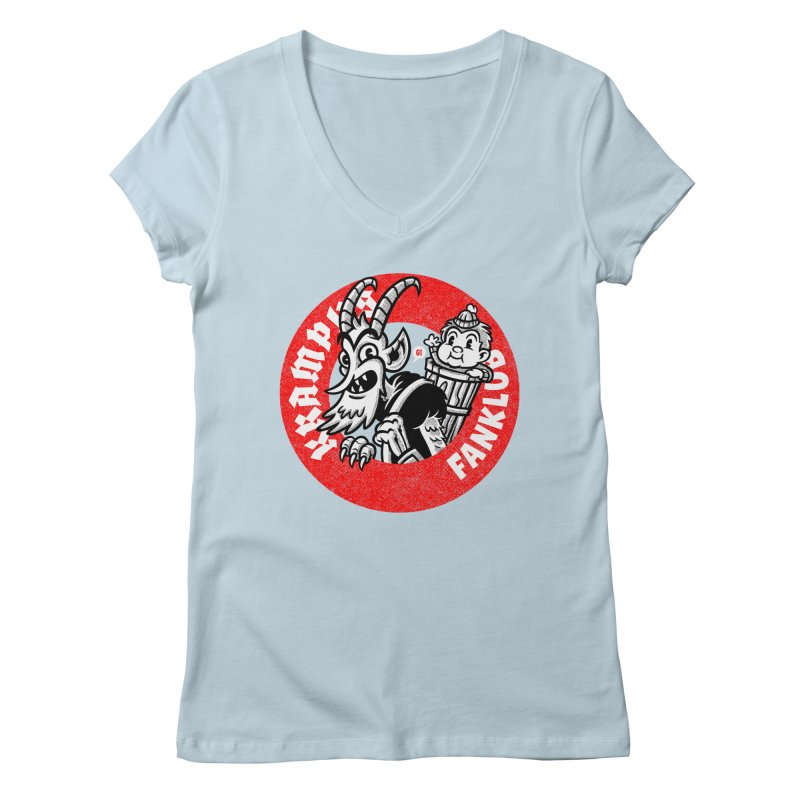 KRAMPUS FANKLUB Women's V-Neck by Gimetzco's Damaged Goods