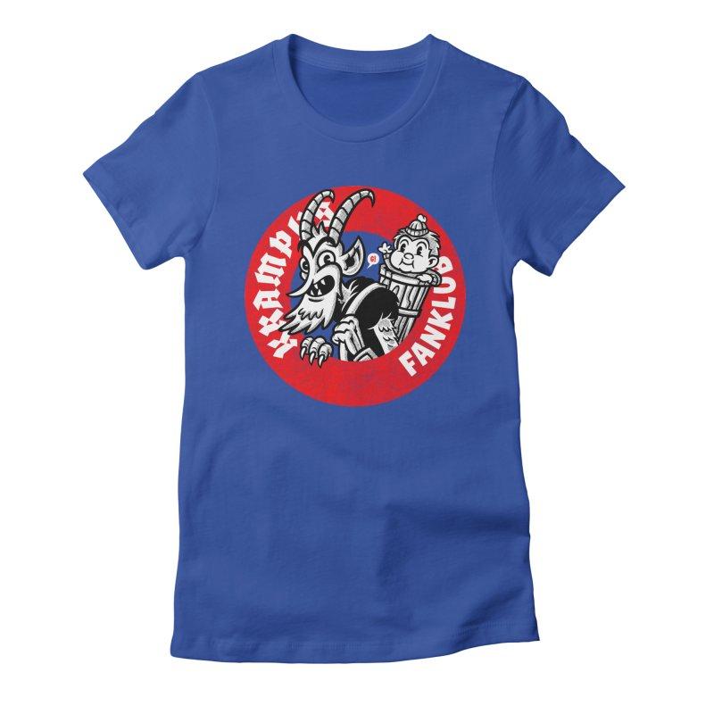 KRAMPUS FANKLUB Women's Fitted T-Shirt by Gimetzco's Artist Shop