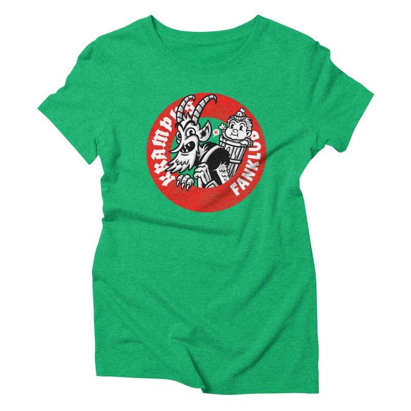 KRAMPUS FANKLUB Women's Triblend T-shirt by Gimetzco's Artist Shop