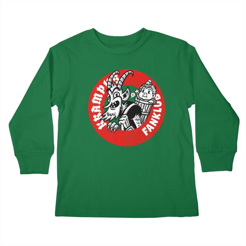 KRAMPUS FANKLUB Kids Longsleeve T-Shirt by Gimetzco's Damaged Goods