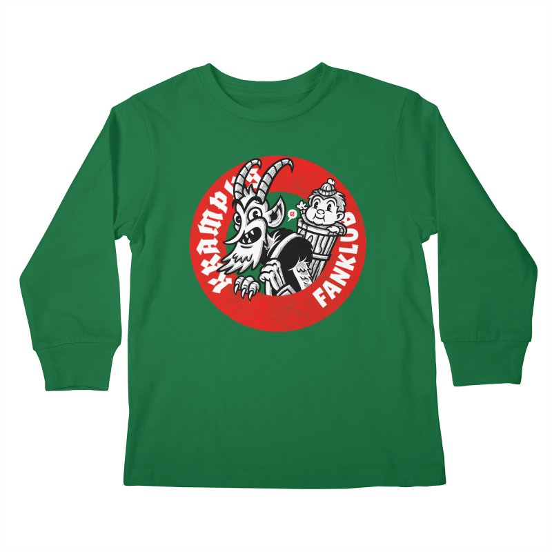 KRAMPUS FANKLUB Kids Longsleeve T-Shirt by Gimetzco's Damaged Goods