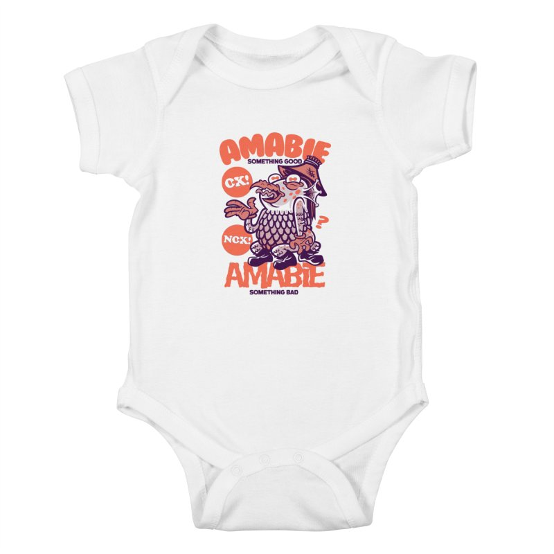 Amabie (orange) Kids Baby Bodysuit by Gimetzco's Damaged Goods