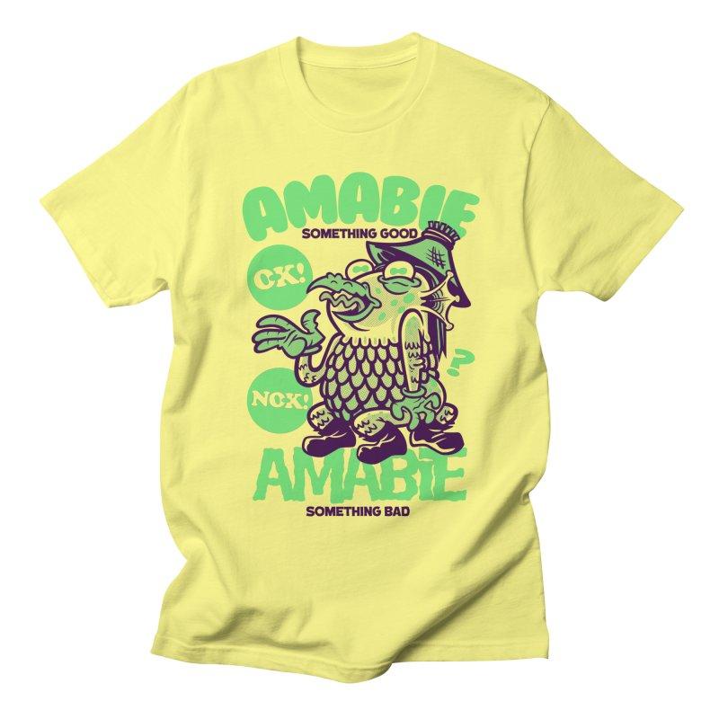Amabie green Men's T-Shirt by Gimetzco's Damaged Goods