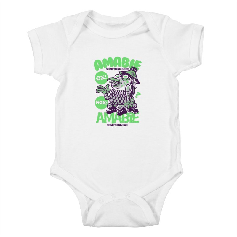Amabie green Kids Baby Bodysuit by Gimetzco's Damaged Goods